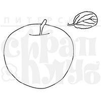 """ФП штамп """"Яблоко с листиком"""""""