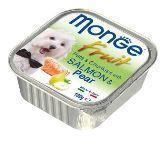 Monge Fruit  100г Лосось с грушей Влажный корм для собак Pate & Chunkies with Salmone & Pear, фото 1
