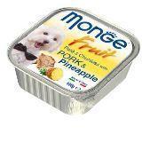 Monge Fruit 100г Свинина с ананасом Влажный корм для собак Pate & Chunkies with Pork & Pineapple, фото 1