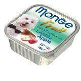 Monge Fruit Dog Ягненок с Яблоком Влажный корм для собак Нежный паштет, 100 гр, фото 1