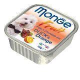 Monge Fruit 100г Утка с Апельсином Влажный корм для собак  Pate & Chunkies with Duck & Orange, фото 1