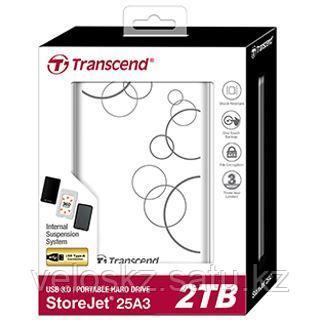 """Transcend StoreJet 25A3 TS2TSJ25A3W, 2000Гб, USB 3.0, 2.5"""", фото 2"""
