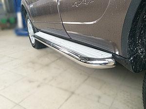 Пороги с площадкой D 60,3 Chevrolet  Niva 2009-