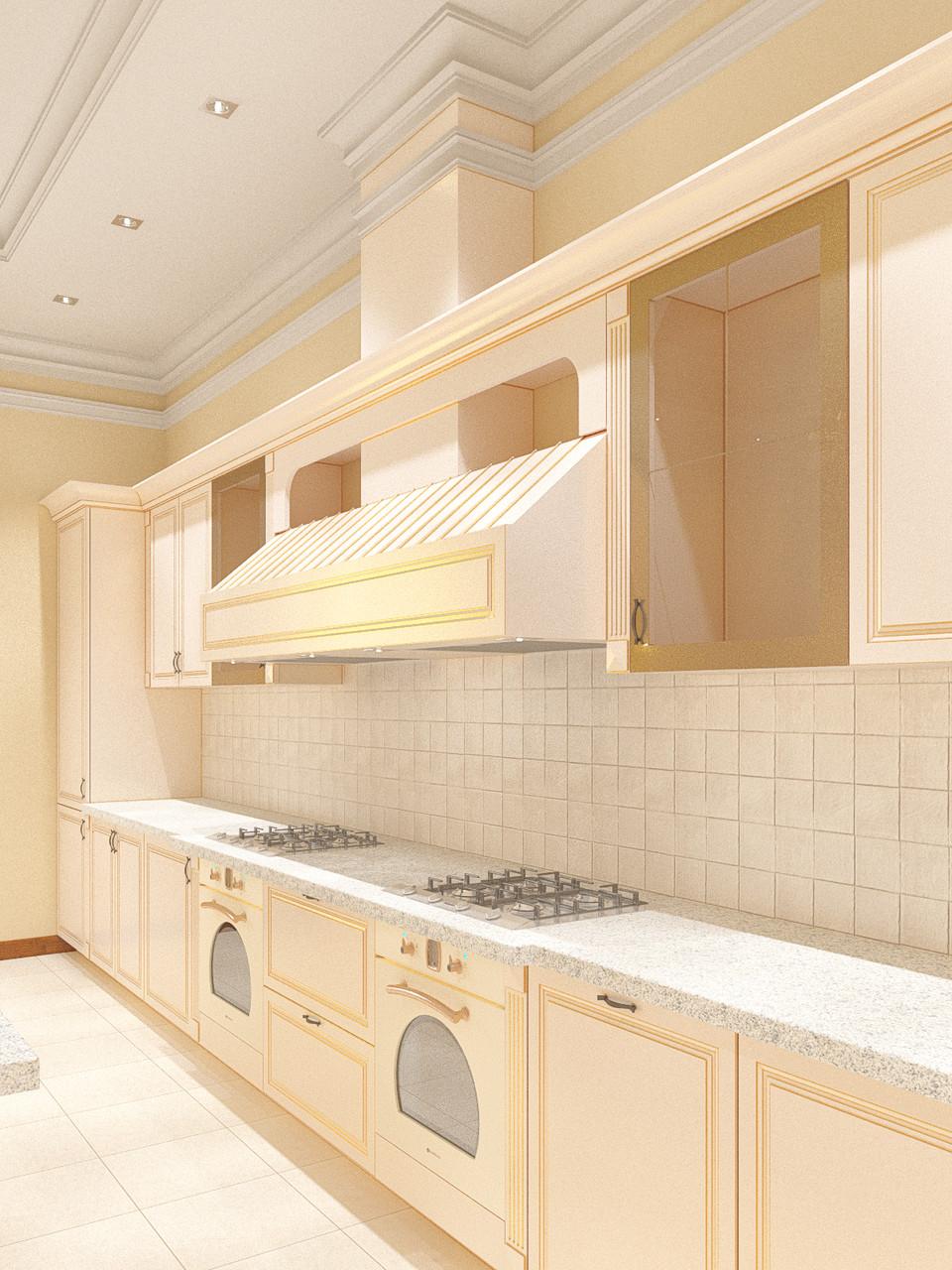 Проект-дизайн кухни в классическом стиле