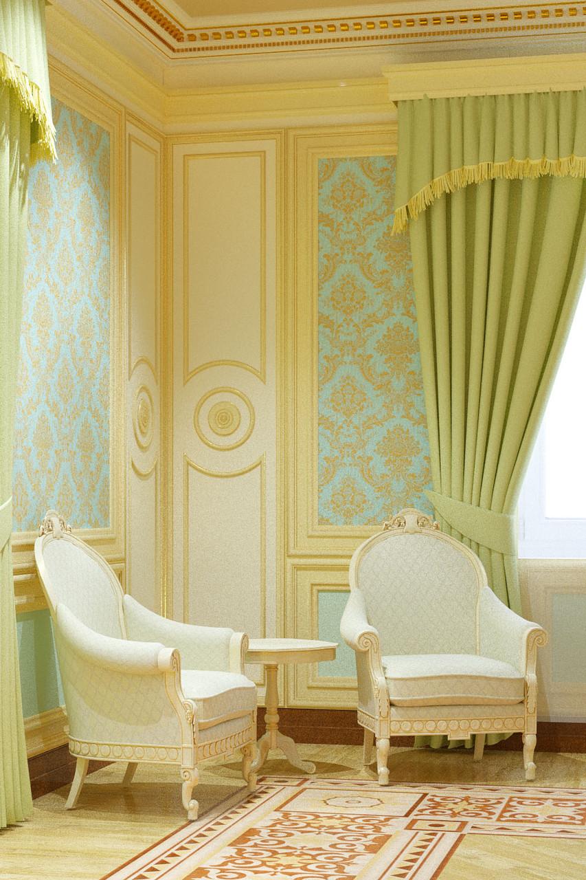 Дизайн-проект гостинной в классическом стиле