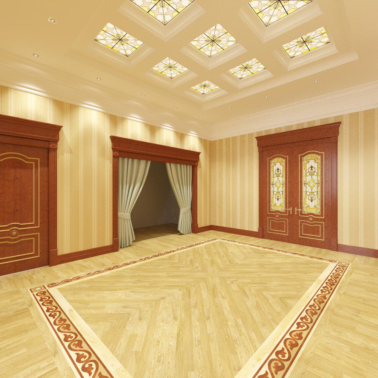 Дизайн холла в классическом исполнении