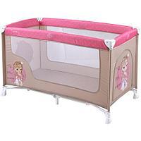 Кровать-манеж Lorelli Nanny Розово-бежевый
