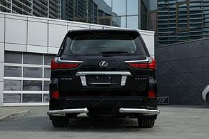 Защита задняя уголки D 76,1 Lexus LX 450d/LX 570 2015-