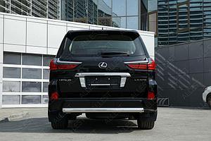 Защита задняя (ОВАЛ) D 75х42 Lexus LX 450d/LX 570 2015-