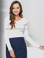 Белая нарядная блузка