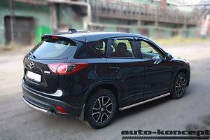 Защита задняя (ОВАЛ) D 75х42 Mazda CX-5 2011-2015-