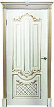 """Двери межкомнатные из массива сосны """"ДЛ 245 Эмаль Золото ПГ"""" без стекла"""