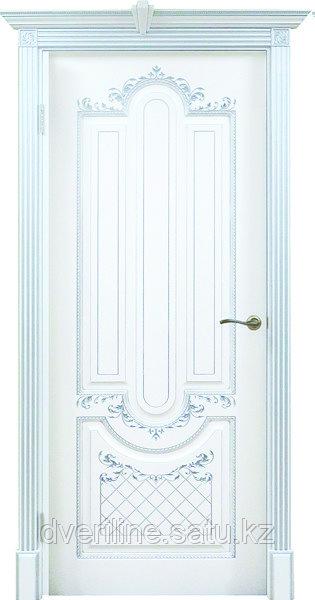 """Двери межкомнатные из массива сосны """"ДЛ 245 Эмаль Серебро ПГ"""" без стекла"""
