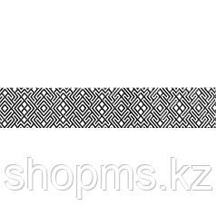 Керамическая плитка Шахтинская Камелия чёрный бордюр 01 (400х75)
