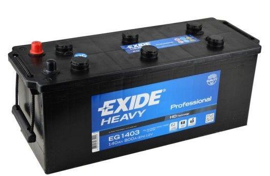 Аккумулятор для грузовиков и автобусов Exide HEAVY Professional 140 Ah (EG1403) 12V 800A