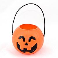 Конфетница ведерко Тыква для Хэллоуина (маленькое)