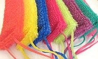Мочалка из полипропилена, плетеная, цветная БШ.