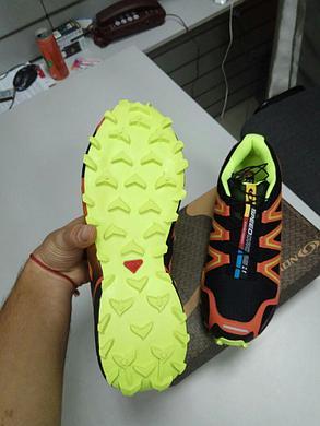 Кроссовки Salomon SpeedCross III (3) черно-оранжевые, фото 2