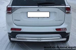 Защита задняя двойная D 60,3/42,4 Mitsubishi Outlander 2014-