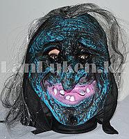 Маска для Хэллоуина Ведьма (синяя)