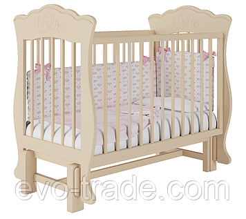 Кроватка Елена (слоновая кость), без ящика