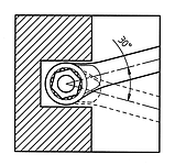 Ключ накидной прямой-WS 14X15, фото 4