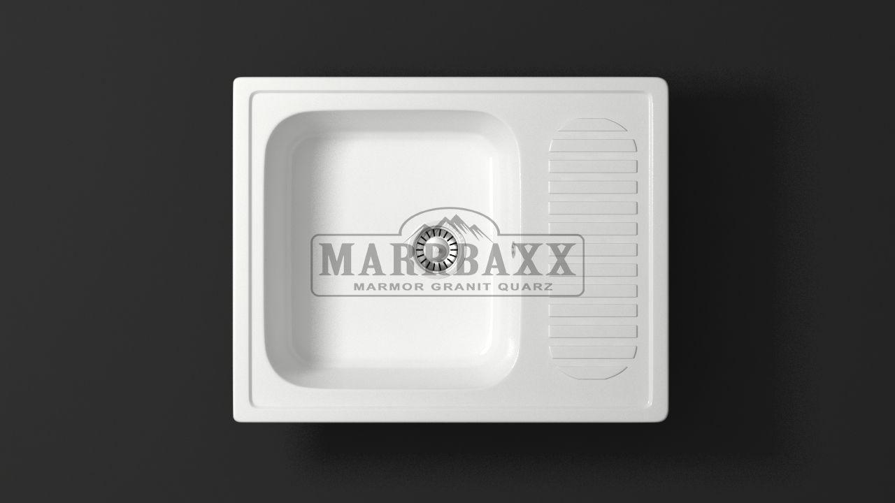 Кухонная мойка глянцевая кварцевая MARRBAXX  серия Granit MARR  Арлин Z15  (635x490 мм)