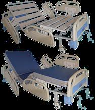 Кровать медицинская функциональная 4-х секционная из медицинского пластика -HPL