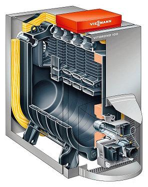 Котёл комбинированный низкотемпературный Viessmann VITOROND 100,18 кВт (без горелки), фото 2
