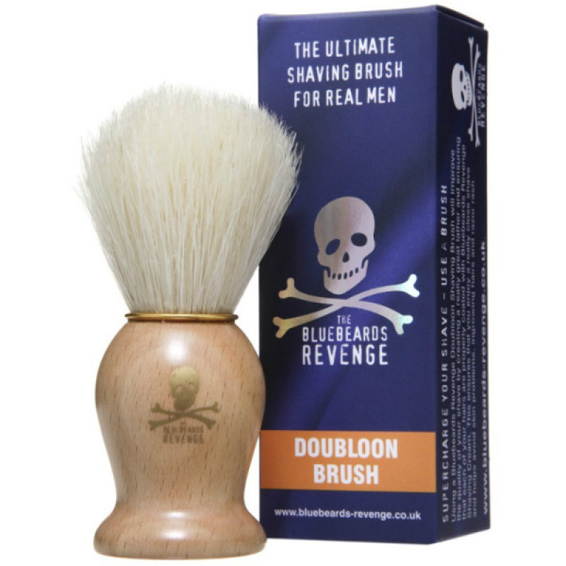 Деревянный помазок Doubloon Bristle Brush для бритья