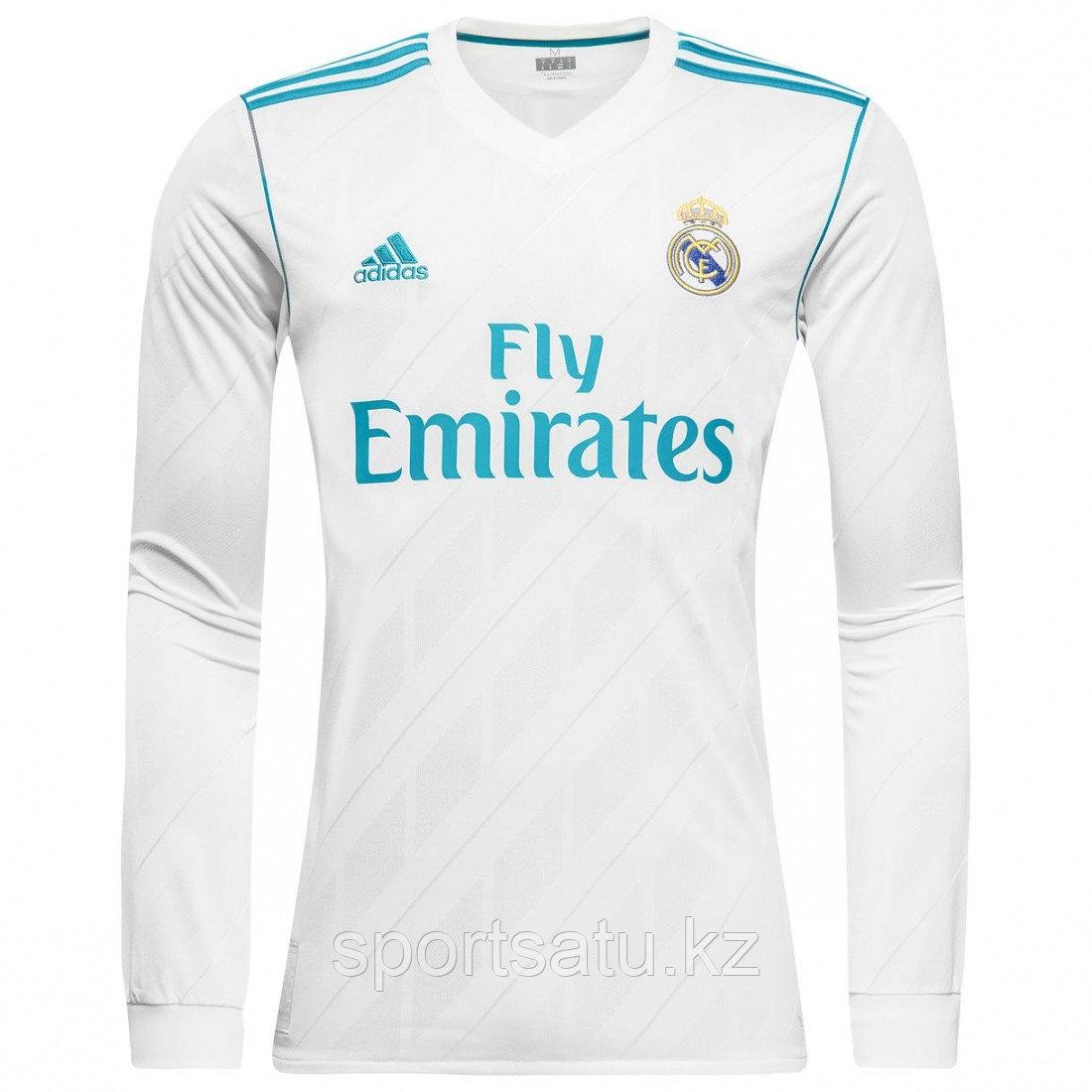 Футбольная форма Реал Мадрид с длинными рукавами сезона 2017-18 домашняя ХЛ