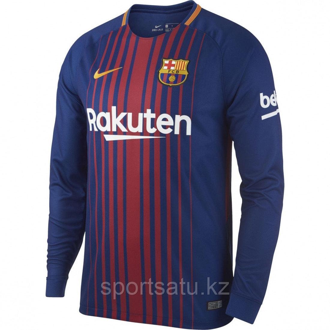 Футбольная форма Барселона с длинными рукавами сезона 2017-18 домашняя XL