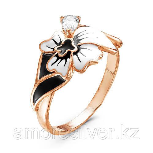 Кольцо Красная Пресня серебро с позолотой, фианит, флора 2388203