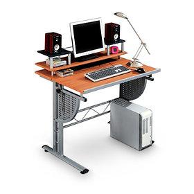 Компьютерный стол, Deluxe, DLFT-321S Composit, МДФ, 95*95*68 см, Красно-Коричневый, Регулируемая сто