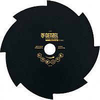 Диск для триммера, 230 х 25,4 толщина 1,6 мм, 8 лезвий, DENZEL, 96328, фото 1