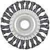 Щетка зачистная для УШМ 125 мм, посадка 22,2 мм, плоская, крученая металлическая проволока, MATRIX, 74632