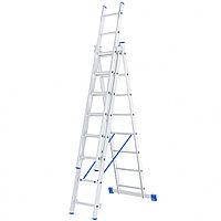 Лестница алюминиева, 3 секции по 8 ступеней, три секции СИБРТЕХ 97818