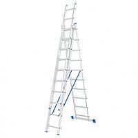Лестница, 3 секции по 10 ступеней, алюминиевая, трехсекционная  СИБРТЕХ Pоссия 97820