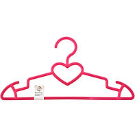 Вешалка пластиковая для верхней одежды 41 см, цветная, сердечко// ELFE
