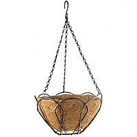 Кашпо подвесное, 25 см, с кокосовой корзиной, PALISAD, 69001