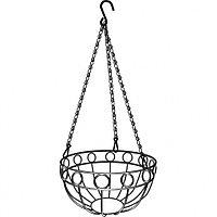 Кашпо подвесное, диаметр 26 см, высота с цепью и крюком 53,5 см, PALISAD, 69015