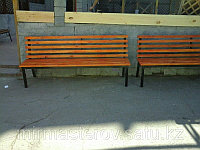 Скамейка парковая - сосна, цвет, лак