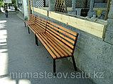 Скамейка парковая - сосна, цвет, лак, фото 3
