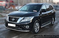 Обвес, защита бамперов, порогов из нержавеющей стали Nissan Pathfinder 2014-