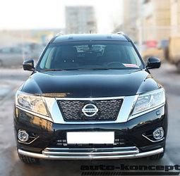Защита передняя двойная D 60,3/42,4 Nissan Pathfinder 2014-