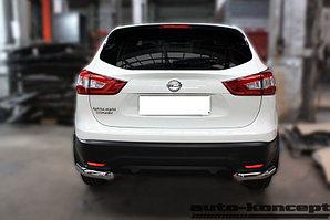 Защита задняя уголки D 60,3 Nissan Qashqai 2014-