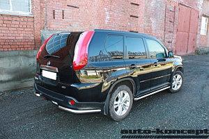 Пороги труба D 60,3 Nissan X-Trail 2011-2014