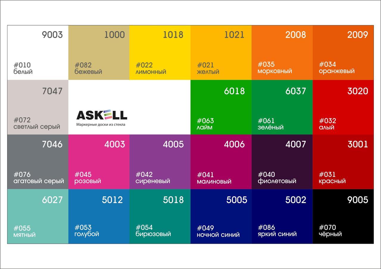 Доска стекло-маркерная, 600х800 мм, настенная, c внутренними креплениями (LUX) ASKELL