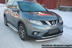 Защита передняя D 60,3 Nissan X-Trail 2015-