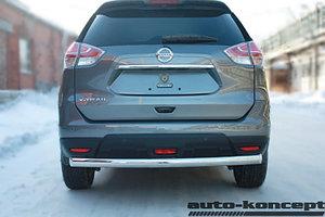 Защита задняя ОВАЛ D 75x42 Nissan X-Trail 2015-
